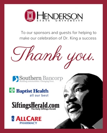 Henderson State extends a warm thank you to our sponsors and guests!